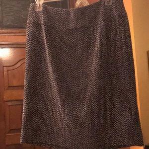 Skirt straight tweed